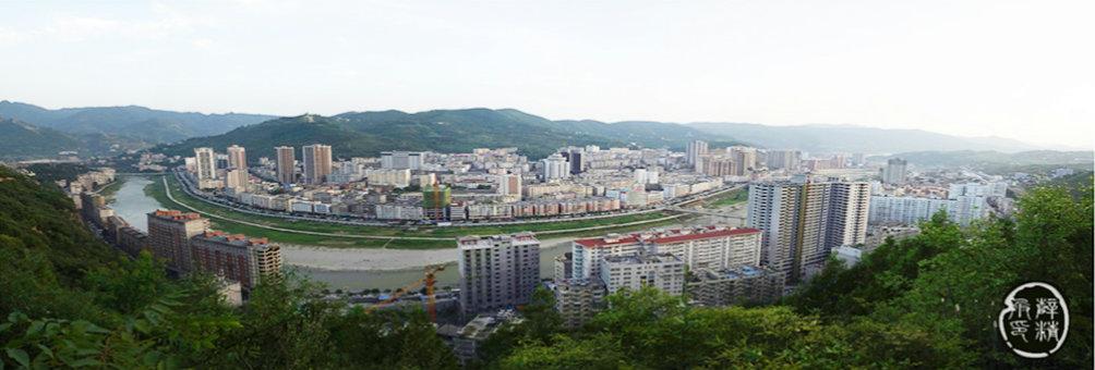 中华太极城——旬阳新城远眺