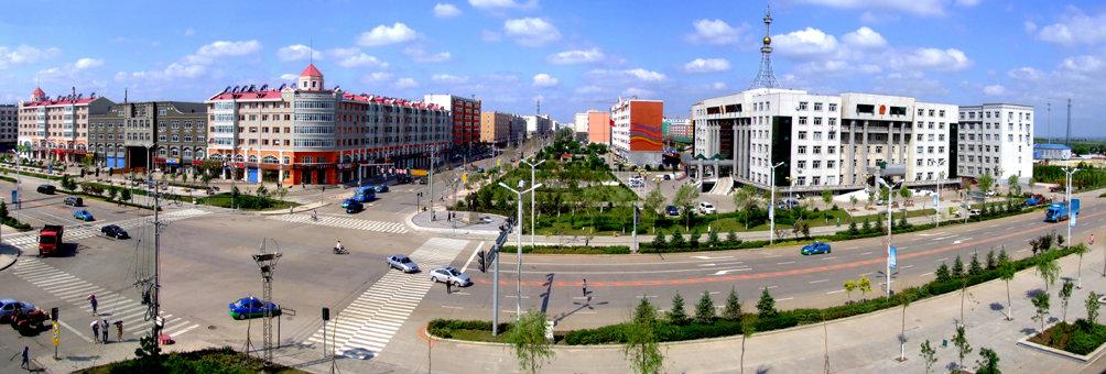 风景秀丽的五大连池市俯瞰