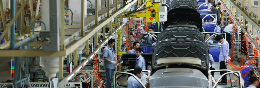 上海大众汽车生产流水线