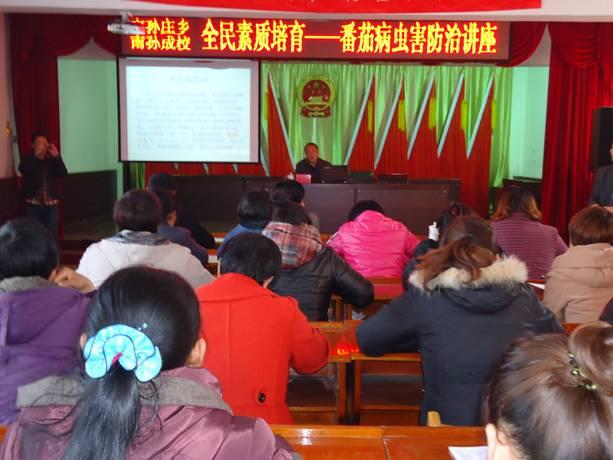 南孙庄乡成人学校举行番茄病虫害综合防治讲座