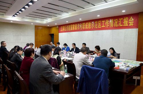 教育部专家组到江津调研指导创建首批国家级农村职成教示范区工作情况