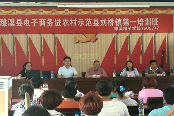 刘桥镇电子商务进农村培训班在任圩村开讲