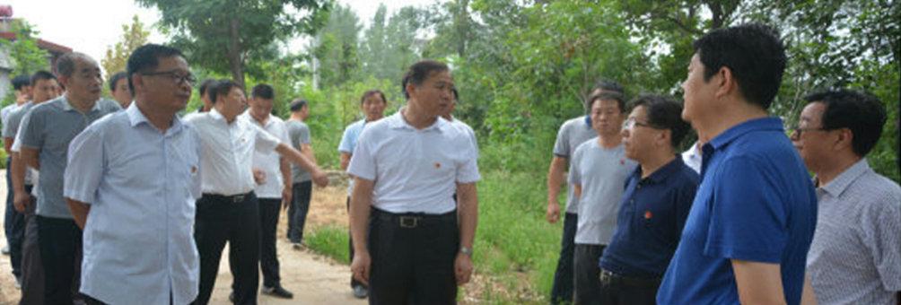 县委书记杨彦康、县长麻军泽在职业中学新校址现场办公
