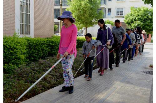 县残联举办2017年大埔县盲人定向行走培训班
