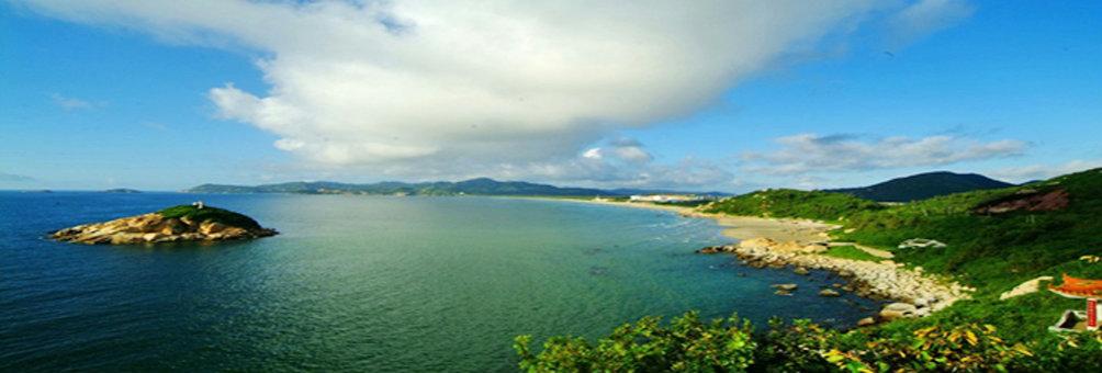 美丽台山之川岛风景 飞沙滩(4800米)、金沙滩(5200米)、银沙滩(800米),绵延十公里