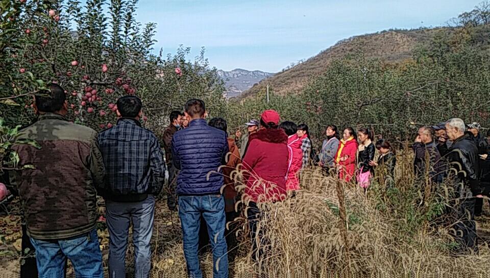 临城县职教中心组织农民到浆水参观学习