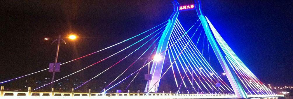 瀑河桥畔 流光溢彩