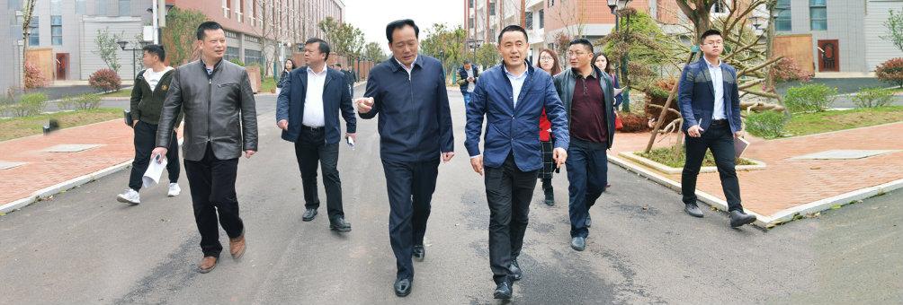 陈中副市长考察县职教中心