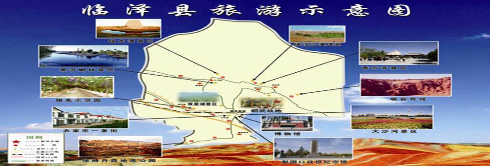 临泽旅游示意图