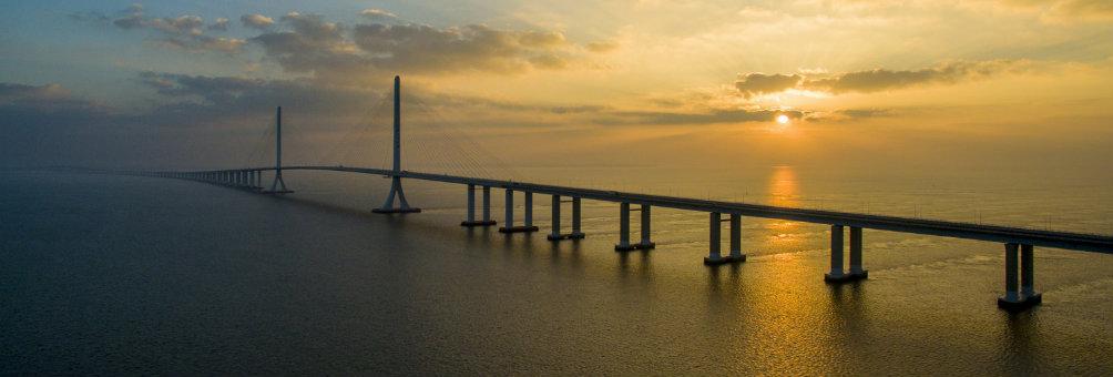 长江大桥沐朝霞