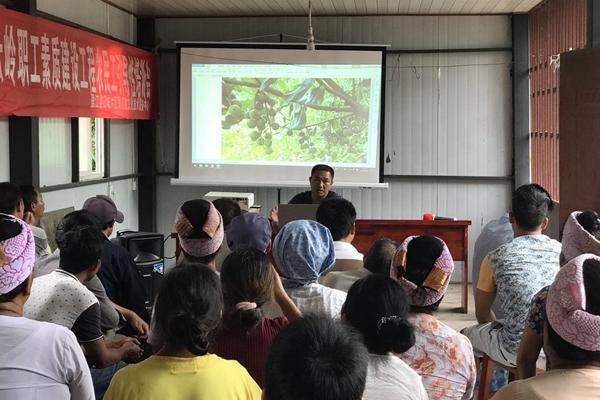 杏坝村开展种植养殖技术培训会