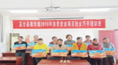 南华镇举办妇女巧手培训班