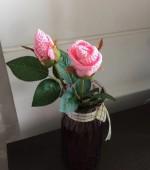 西堤头镇成校组织培训农村妇女手工钩织玫瑰花