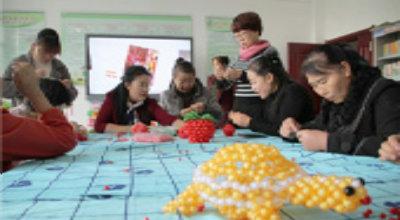 """城关镇长征路社区开展""""妙手连珠•创新创业""""妇女手工培训"""