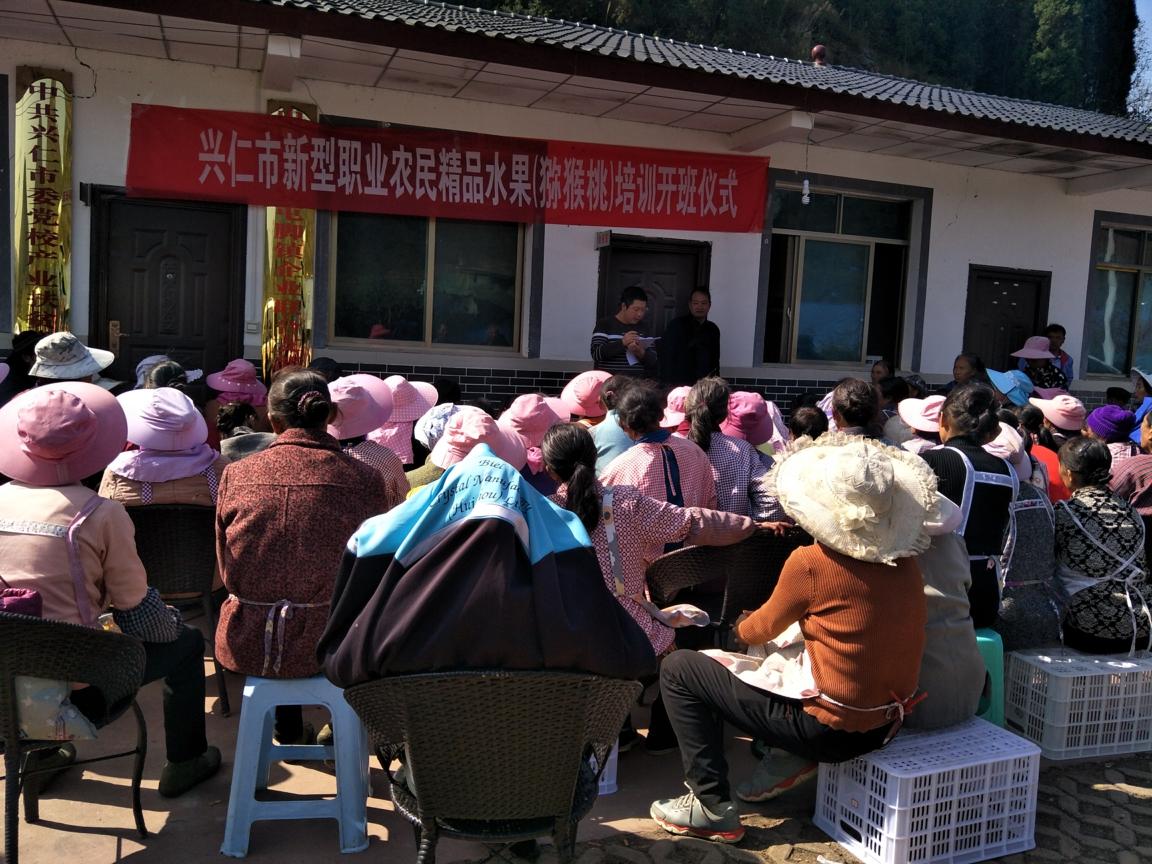 兴仁市职业农民精品水果猕猴桃培训圆满结束