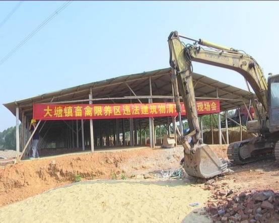 大塘镇召开清理限养区内违规新扩改建畜禽养殖场现场办公会