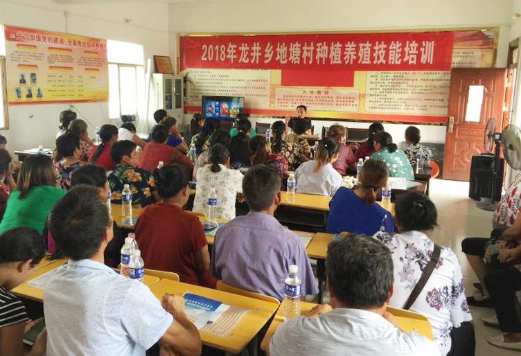 平桥区职教局在龙井乡举办小龙虾养殖技术培训班