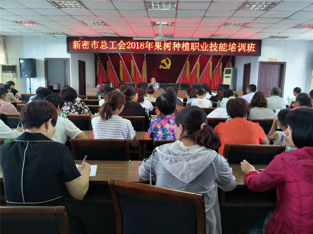 新密市总工会在袁庄乡开展果树种植职业技术培训