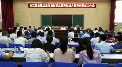 合江县召开创建国家级农村职业教育和成人教育示范县工作会