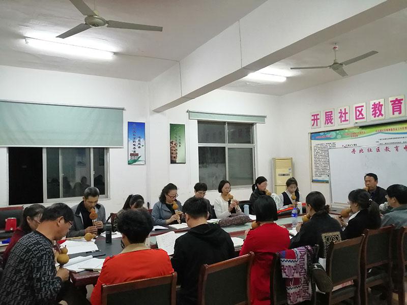 丹阳市丹北悦书坊举办葫芦丝培训结业活动
