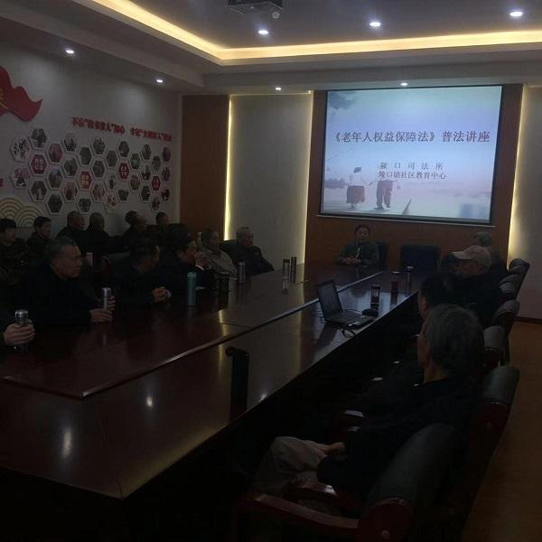 丹阳市陵口镇举行《老年人权益保障法》宣讲暨老年人防诈骗知识讲座