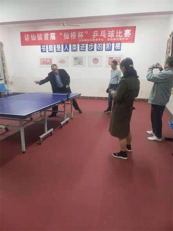 """""""开讲啦""""—访仙镇社区教育中心举办乒乓球培训"""