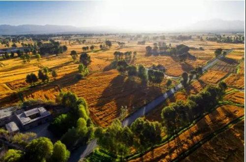 入秋的玉门昌马盆地——满目是景