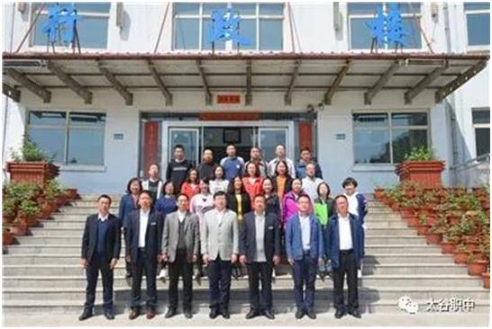 阳泉市郊区高级职业中学同仁在太谷职中考察交流