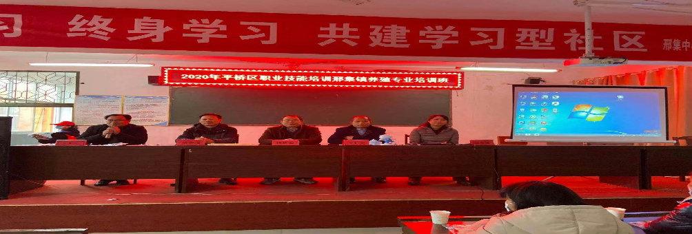 平桥区职业技能培训邢集镇养殖专业培训班圆满成功