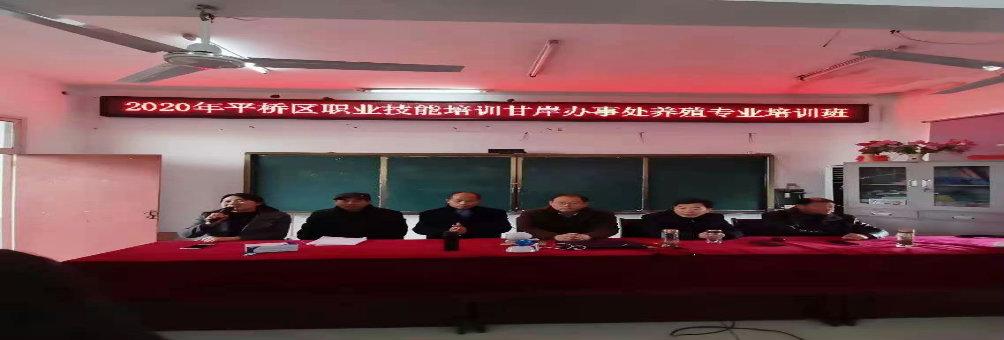 平桥区职业技能培训甘岸办事处养殖专业培训班正式开课